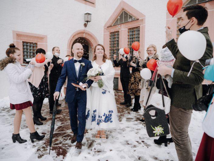 Hochzeit auf der Augustusburg in Sachsen