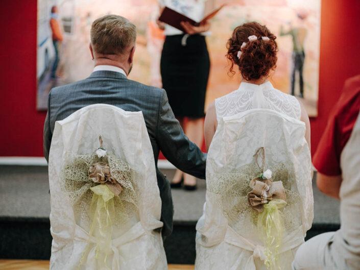 Hochzeitsfotografie Carina und Thomas Zenner im Standesamt Meerane. Gartenhochzeit